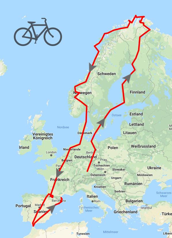Auf Tour Mit Dem Fahrrad Von Augsburg Zum Nordkap Und Weiter
